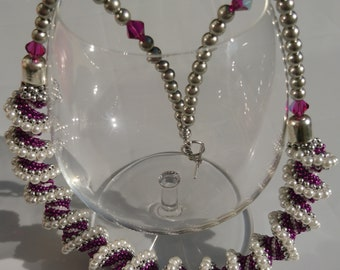 Pink /& Purple Cellini Spiral Dreadlock Bead with Sun Charm