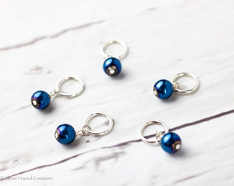 Metallic Stitch Markers for Knitting; Can support needles US 1 - US 10.5