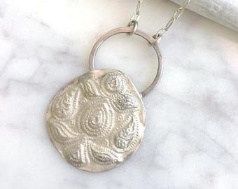 Boho Necklace Ideas, Gypsy Soul, Stamped Necklace, Tribal Necklace, Fine Silver Necklace, PMC Necklace, Silver Necklace, Indian Necklace