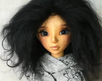 "Perruque (wig) mohair MSD tibetan lambskin 7/8"""