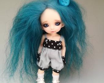 Perruque (wig) mohair taille 5/6 Momonita Pukifee Monster High