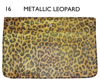 89691b8a2845 Metallic Leopard Leather Flap for Brooklyn Flap Bag, Snap on Printed  Leather Flap, Design Your Own Bag