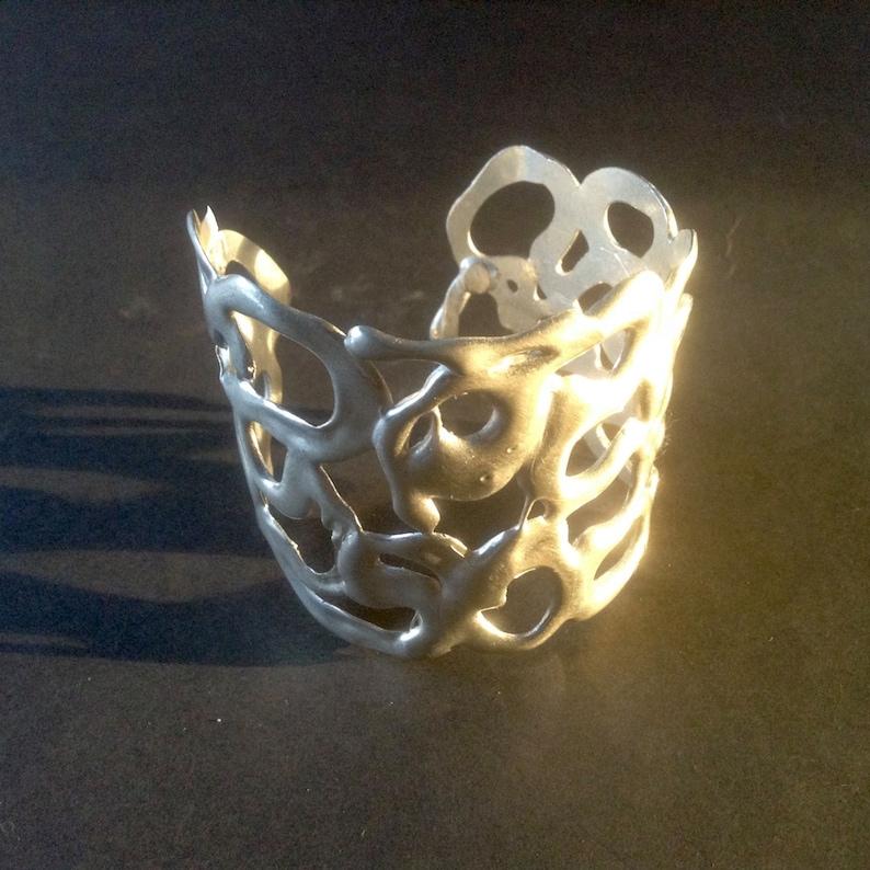 Modern Sterling Silver Bracelet silver bracelet cuff image 0