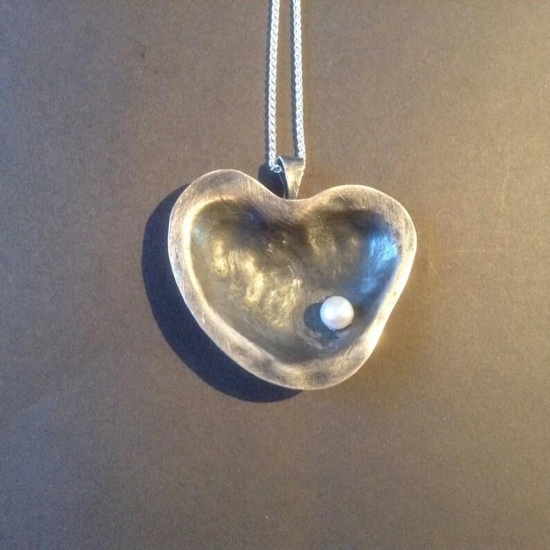 Sterling silver heart pendantheart pendantsromantic image 0