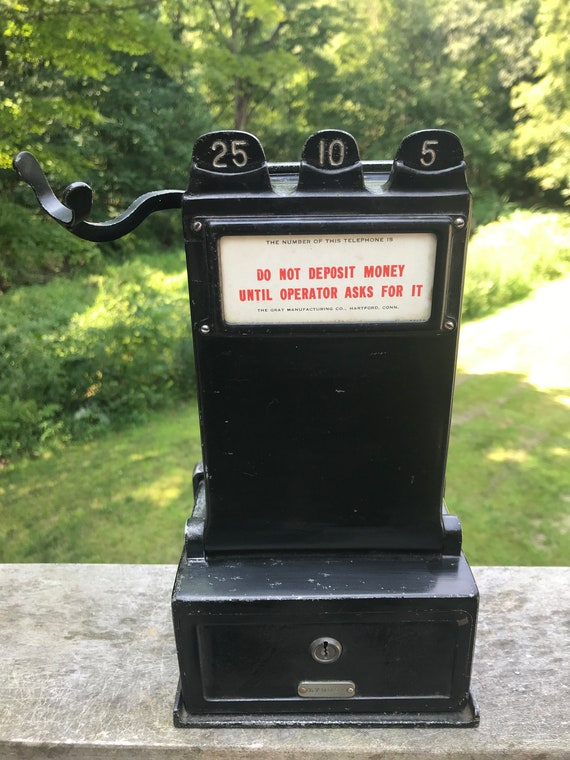 Antique Gray Manufacturing Company, Gray Pay Station, Ca. early 1900's, telephone collection, movie prop, no key