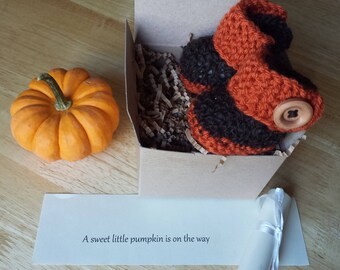 Baby booties, Reveal Booties, November Pregnancy announcement, Pregnancy reveal, Ship same day!