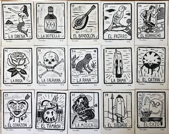photo about Free Printable Loteria Cards titled Loteria playing cards Etsy