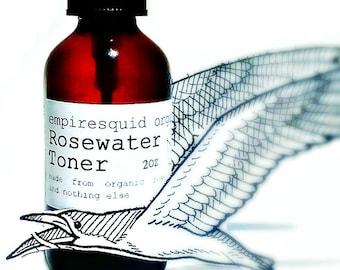 Organic Rose Water Toner, Rose Facial Toner, Rosewater Toner, Organic Facial Spray, Rose Face Toner, Organic Toner, Rosewater Spray