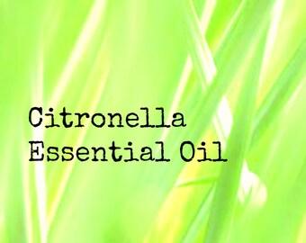 Citronella Essential Oil | Pure Citronella Essential Oil | Natural Insect Repellent | Natural Bug Spray | Essential Oil