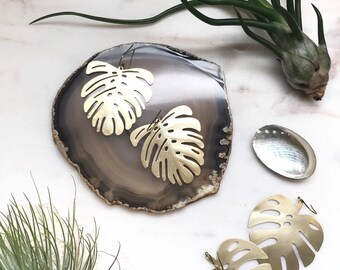 Tropical Frond Statement Earrings