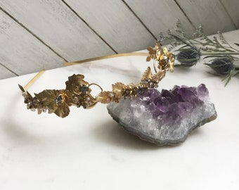 Stormy Gray Swarovski Crystals Wedding Crown