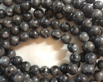 6mm Larvikite Round Beads