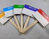 Hello, My Name Is Plant Tags | Plant Labels | Plant Sign | Garden Sign | Name Tags | ID Tags | Unique Plant Label | Fun Plant Label