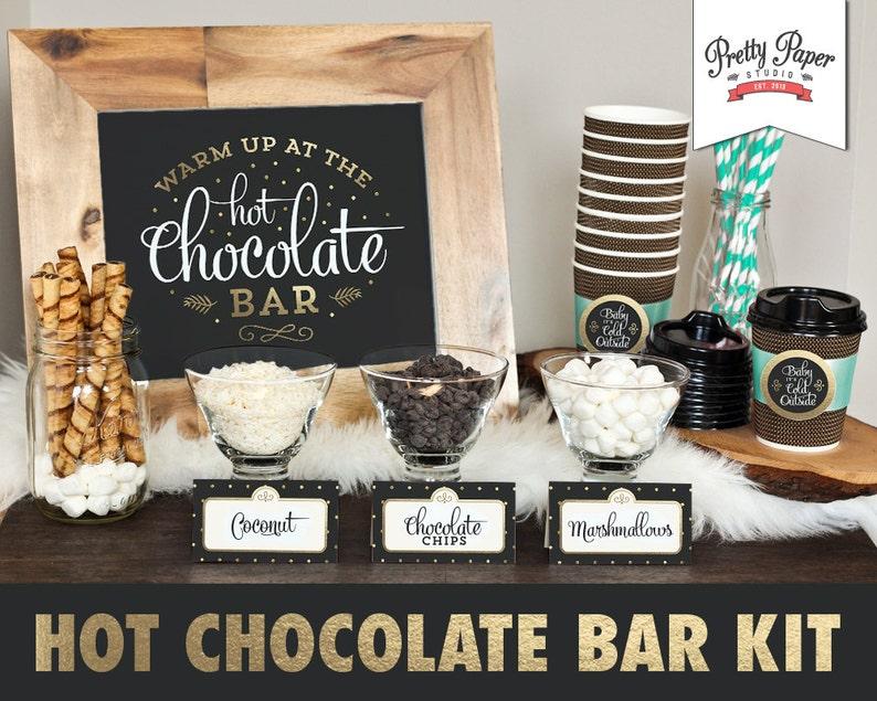 Hot Chocolate Bar Printable Kit // INSTANT DOWNLOAD // Hot image 0