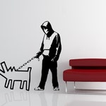 Banksy Keith Haring Tribute Vinyl Wall Decal - Choose Your Weapon Sticker