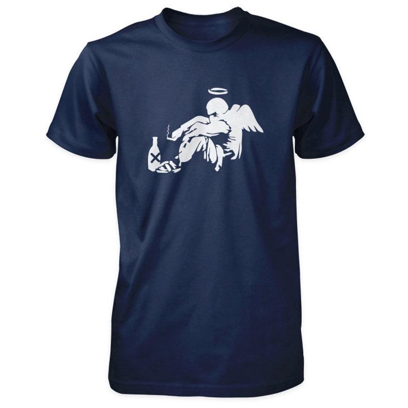 Banksy Fallen Angel T-Shirt image 0