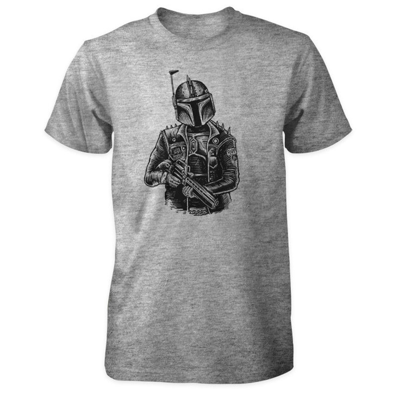 Star Wars T-Shirt  Punk Rock Boba Fett  Mandalorian Bounty image 0