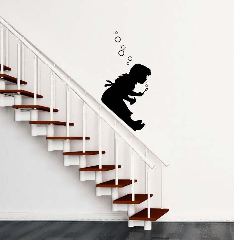 Banksy Wall Decal  Bubble Girl  Girl Blowing Bubbles image 0