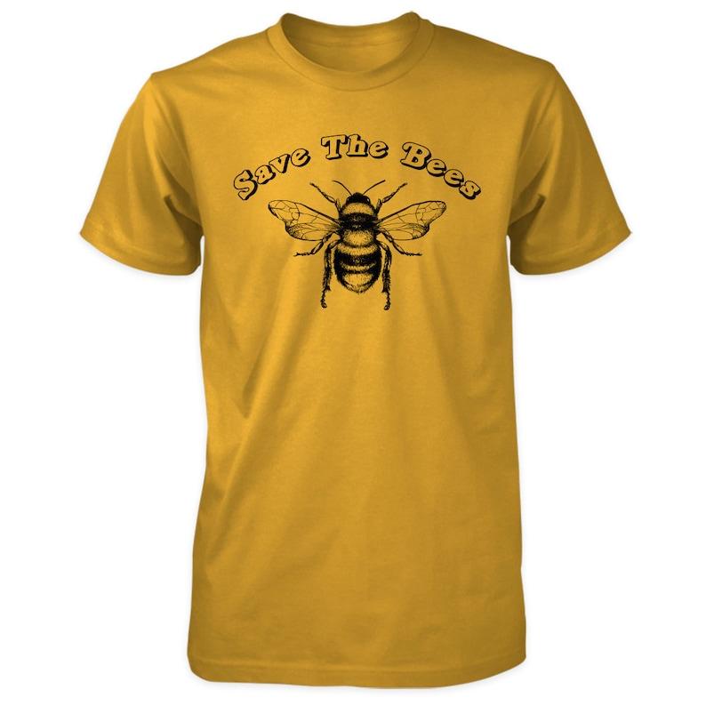 Save The Bees Vegan T-shirt  Organic Ringspun Cotton Vegan image 0