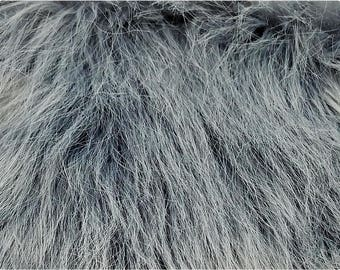 Gray Luxury Shag Faux Fur Fabric - 2