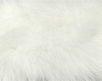 White Luxury Faux Fox Fur Fabric 62a84dc43deed
