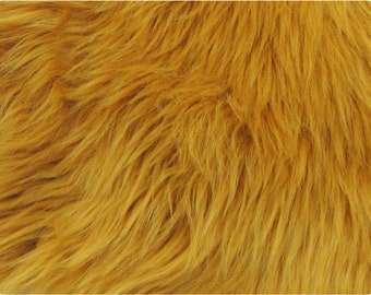 Amber Luxury Shag Faux Fur Fabric e59f95e644454