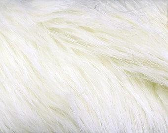 Ivory Luxury Faux Fox Fur Fabric