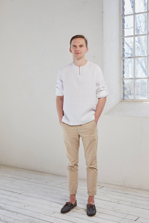 2daf76132bd6 Linen shirt Linen men s shirt White linen shirt Linen