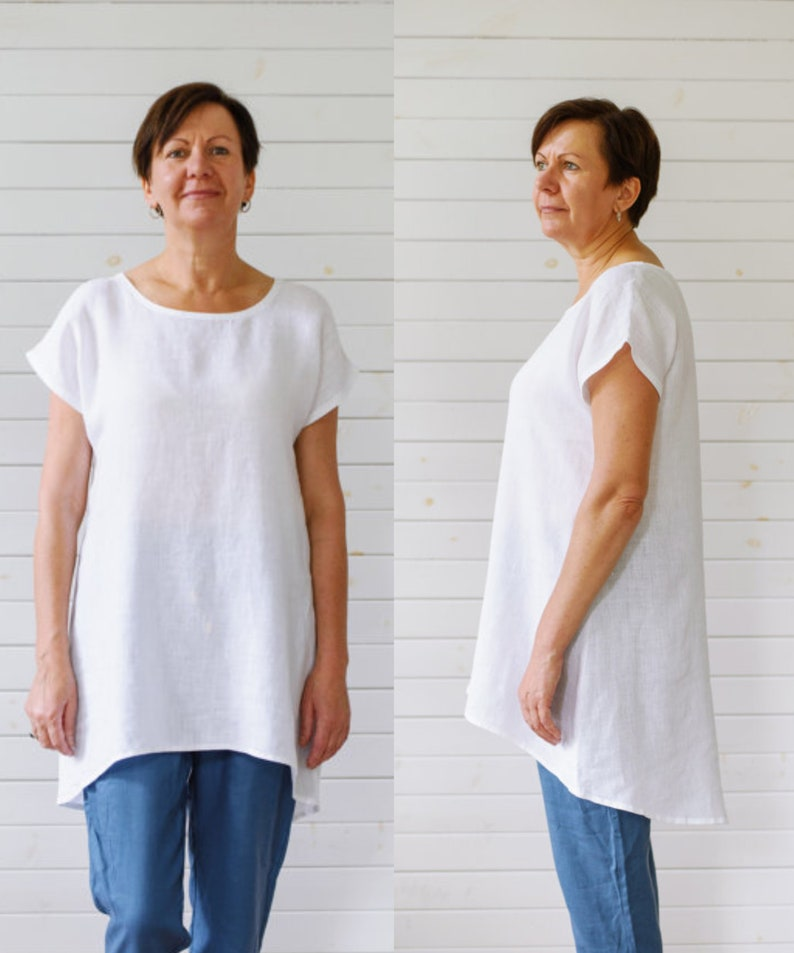 ea5390410fc Linen tunic Washed linen tunic shirt White linen summer