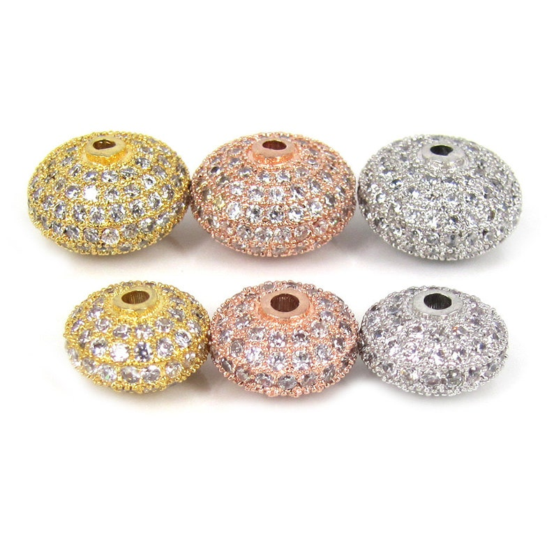 Beads 10mm Best Quality Brass Cubic Zirconia Round Pave Beads Loose Spacer Cz Bead Ball For Diy Jewelry Making Findings Accessories Last Style