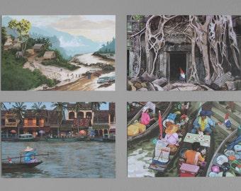 Gnome Around The Globe — Postcard set