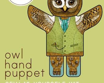 Owl Hand Puppet Kit