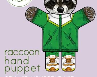 Raccoon Hand Puppet Kit