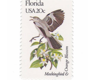 1982 20c State Bird And Flower Series