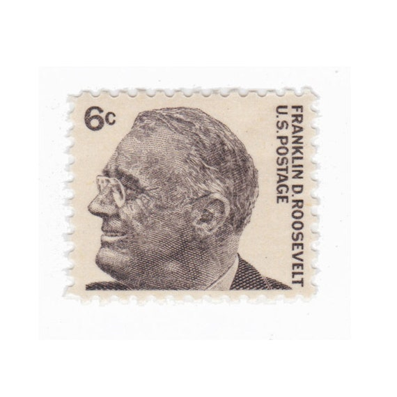 10 Unused Vintage Postage Stamp 1966 6c Franklin D Roosevelt Item No 1284