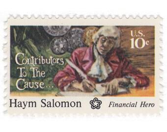 10 Unused Vintage Postage Stamps - 1975 10c Haym Salomon - Item No. 1561