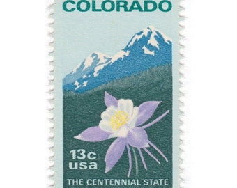 10 Unused Vintage Postage Stamps - 1977 13c Colorado - Item No. 1711