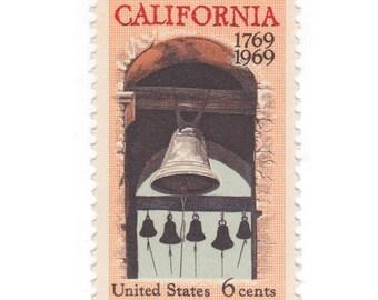10 Unused Vintage Postage Stamps - 1969 6C California Settlement - Item No. 1373