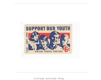 1968 6c Support Our Youth - 10 Unused Vintage US Postage Stamps - No. 1342