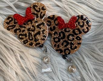 Mouse ears badge reelMinnie mouse badge reelbadge reelbadge holderID holderbadge reelnurse badgegold badgeleopard badge