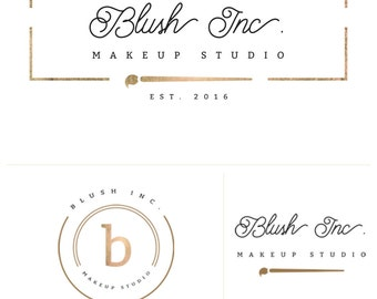 Blush Inc. - Brand Box. Pre made Branding Kit. Business Logo. Watermark. Facebook Cover. Brand Board. Branding Package. Logo Suite