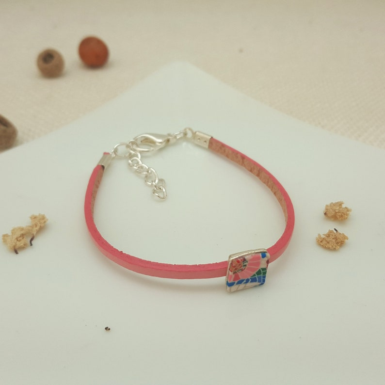 gorgeous bijoux made of fimo nickel-free casual and elegant occasions Handmade tiny bracelet made of polymer clay gift for her