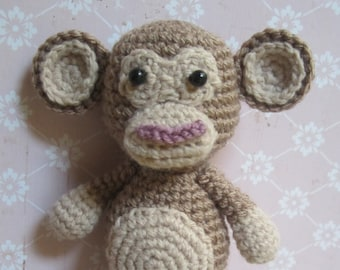 Cute Brown Monkey Amigurumi