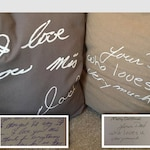 Custom Hand Painted Personalized Handwriting pillow 20x20 with insert- handwriting gift, remembrance gift, loved one's handwriting
