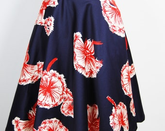 Dandelion Retro Style Skirt Vintage Circle Skirt Flair with Pockets