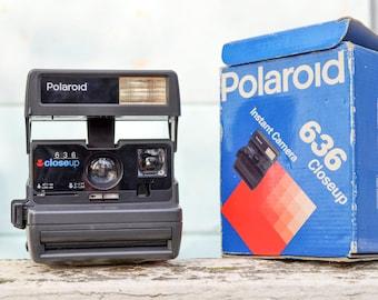 Vintage Polaroid Close Up 636 Camera, Christmas gift for him, polaroid one step 600 Retro Camera Working, Polaroid land Instant camera