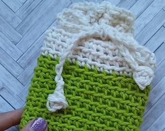 CROCHET PATTERN - Dip Dyed Soap Cozy Crochet Pattern, Favor Bag Crochet Pattern, Candy Pouch Crochet Pattern, Gift Bag Crochet Pattern