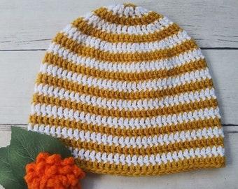 Striped Crochet Pattern, Fall Crochet Pattern, Striped Dylan Claire Beanie Crochet Pattern, Crochet Pattern for Women, Spring Crochet Patter