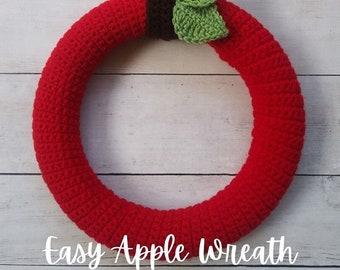 Fall Crochet Pattern, Crochet Wreath Pattern, Crochet 12 Inch Wreath, Wreath Crochet Pattern, Home Decor Crochet Pattern, Crochet Wreath Cov