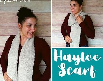 Easy Scarf Crochet Pattern, Fall Crochet Pattern, Haylee Scarf Crochet Pattern, Crochet Pattern for Women, Spring Crochet Pattern